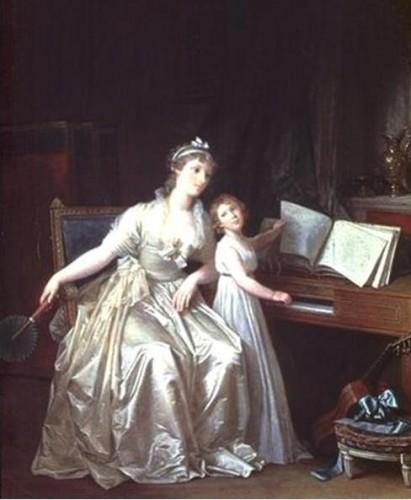 Marguerite Gérard, la leçon de piano