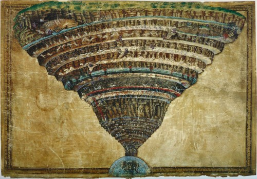 Botticelli, dante, enfer