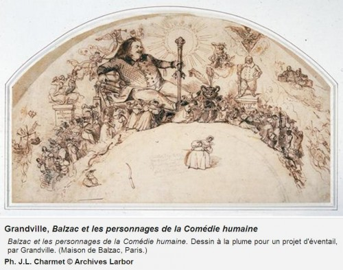 fresque Grandville Balzac et les personnages de la Comédie Humaine.JPG