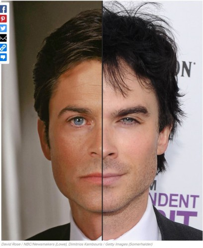 ressemblance,similarité,similitude,pareil,sosie, Rob Lowe,Ian Somerhalder