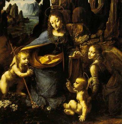 Vierge,léonard,,rochers