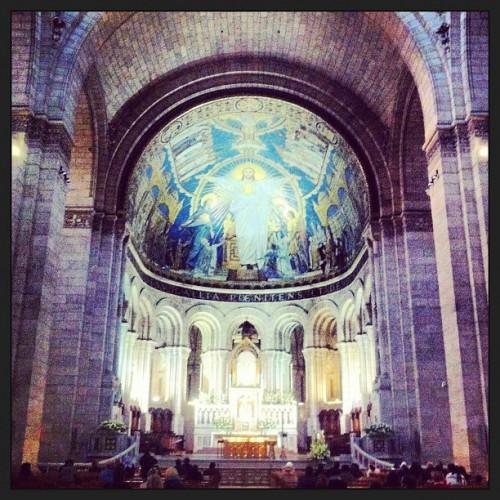 sacre coeur, basilique, paris, mosaique