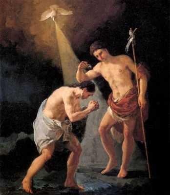 goya, le baptême du Christ