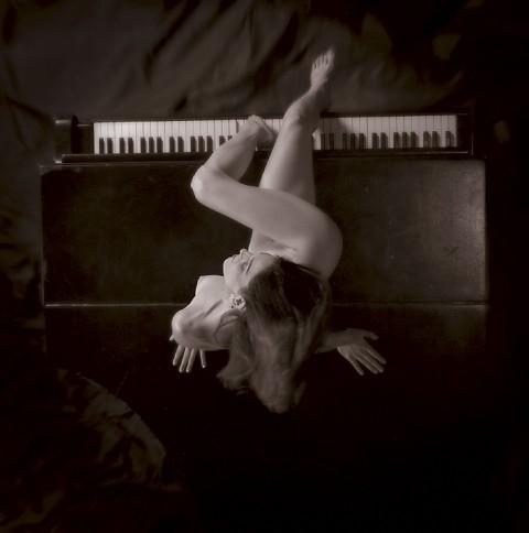 femme, piano, jambes, nue