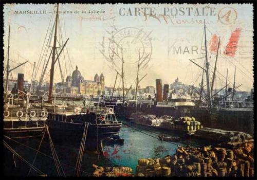 marseille, carte postale, cartes postales, vintage