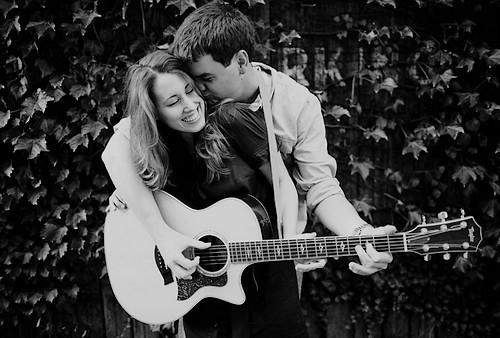femme, guitare