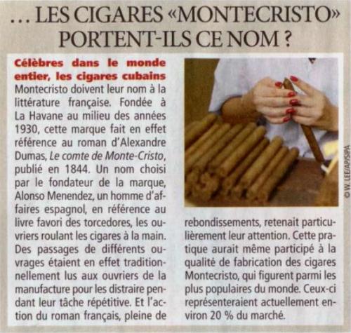 cigares, monte cristo