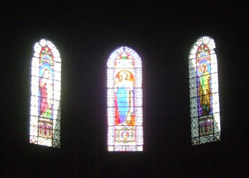 Eglise saint germain des prés - vitrails x 3.JPG