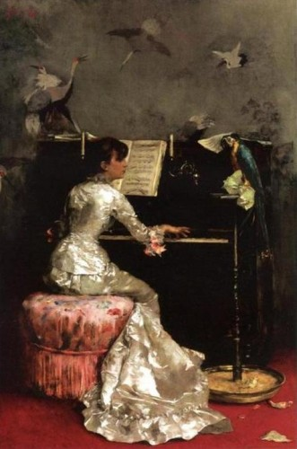 julius leblanc stewart, jeune femme au piano