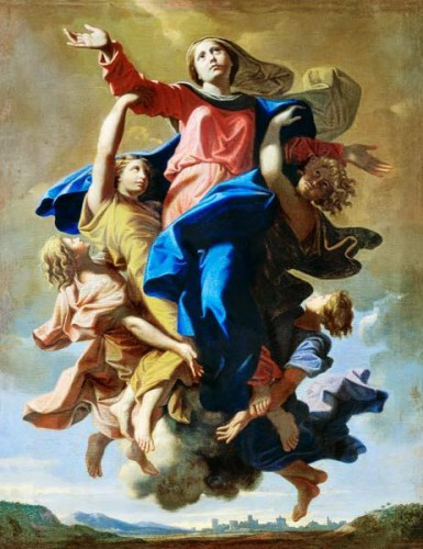 assomption,vierge,marie,15 aout,15 august,poussin,guido reni,murillo,philippe de champaigne,le brun,rubens,bocelli,fra angelico