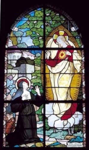 sainte marguerite marie alacoque, sacre coeur, christ