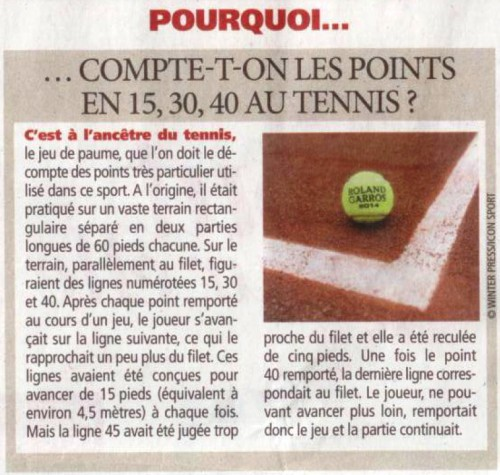 tennis, points