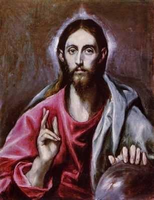 el greco, sauveur du monde, christ