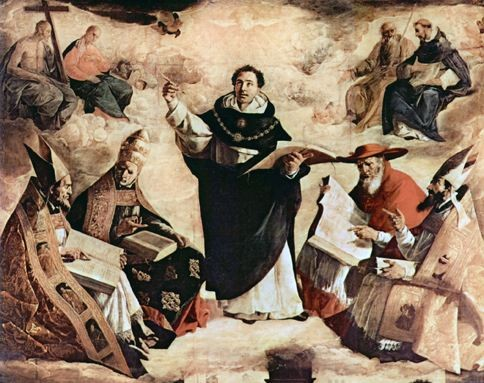 apotheose, saint thomas d'aquin, francisco de Zurbaran