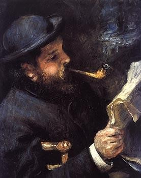 monet autoportrait, pipe, tabac