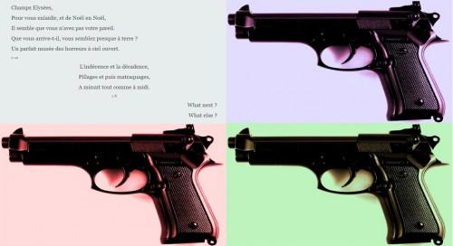 quadruple gun, champs elysees, l'écume des jours