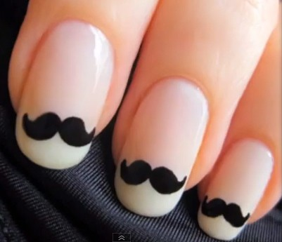 moustache,barbe, ongle, nail art