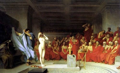Nymphe devant l'aéropage, Jean-Léon Gérôme, desproges