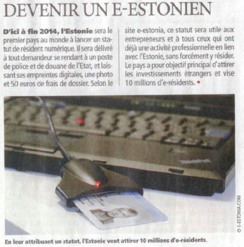 e-resident, estonie, estonia