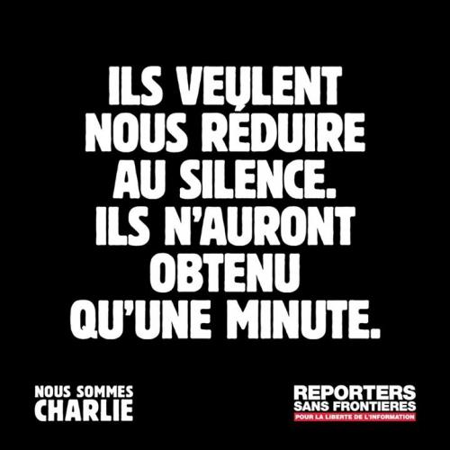 minute de silence, charlie hebdo