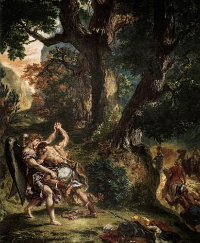 Delcroix, lutte de= jacob avec l'ange