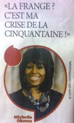 michelle obama, frange, cheveux