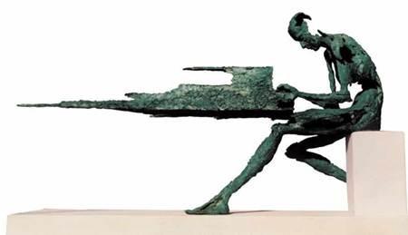 pianiste, sculpture, piano