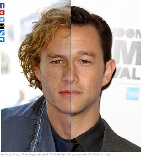 ressemblance,similarité,similitude,pareil,sosie,Heath Ledger,Joseph Gordon Levitt