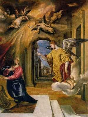 el greco, l'annonciation
