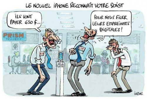 iphone, fingerprints, empreintes, apple, cia, renseignements
