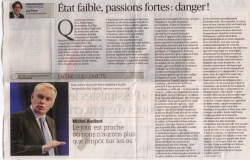 le figaro,luc ferry,france