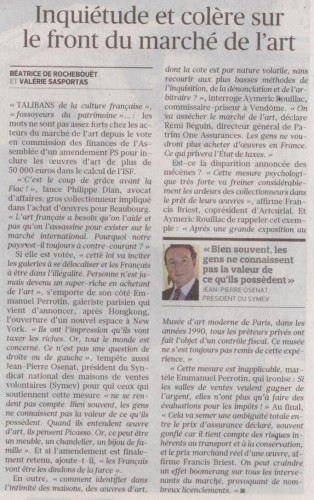 Le Figaro - Taxation des oeuvres d'art - suite.jpg