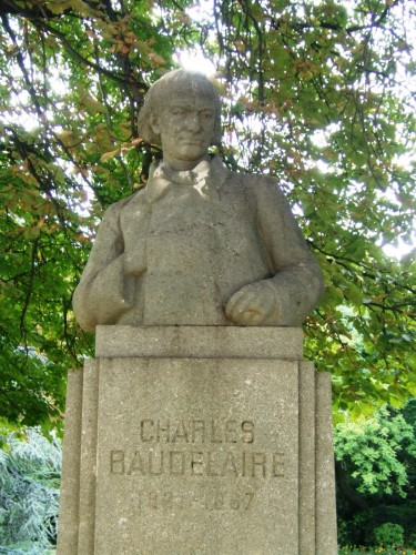 charles baudelaire, jardin du luxembourg