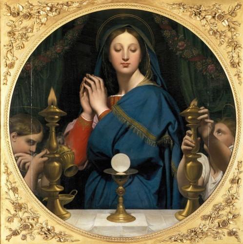 musée d'orsay,la source,jean auguste,la vérité,jules lefèbvre, vierge adorant l'ostie, Ingres