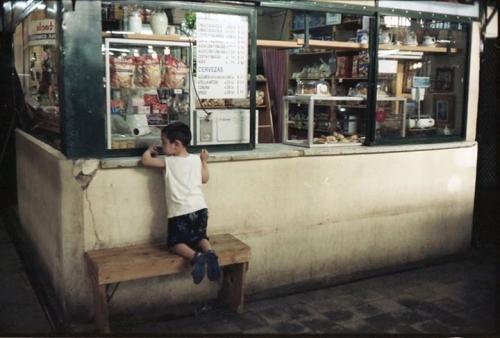 Boy playing, San Telmo market, Buenos Aires, alex van montagu