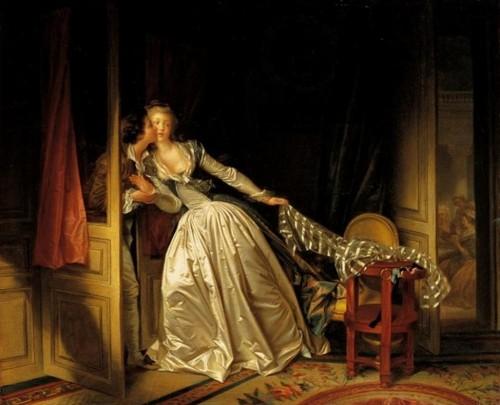 Marguerite Gérard - et Fragonard - baiser à la dérobée.JPG