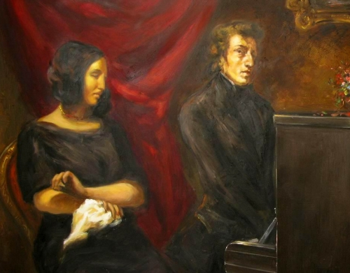 george sand, chopin, delacroix
