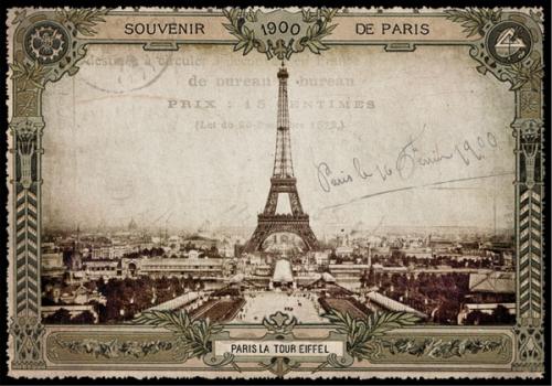 paris, carte postale, cartes postales, vintage