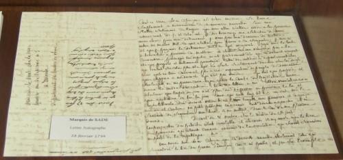 marquis, sade, marquis de sade,librairie,autographe,rue napoléon