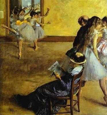 degas, le cours de danse