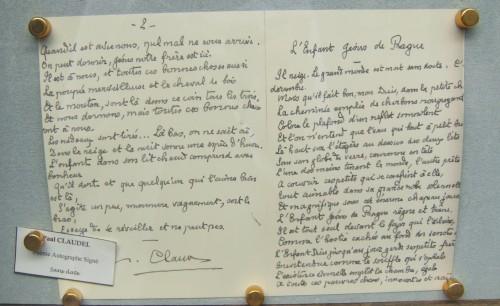paul,claudel,librairie,autographe,rue napoléon