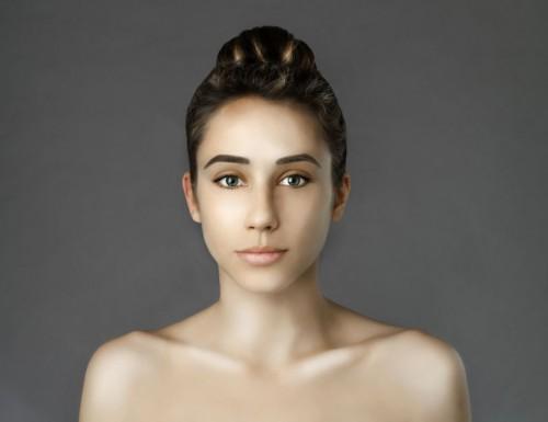 photoshop, beauté, femme, visage