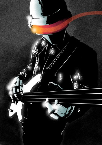 daft punk, play, guitar, guitare