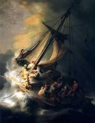 rembrandt, christ, tempête
